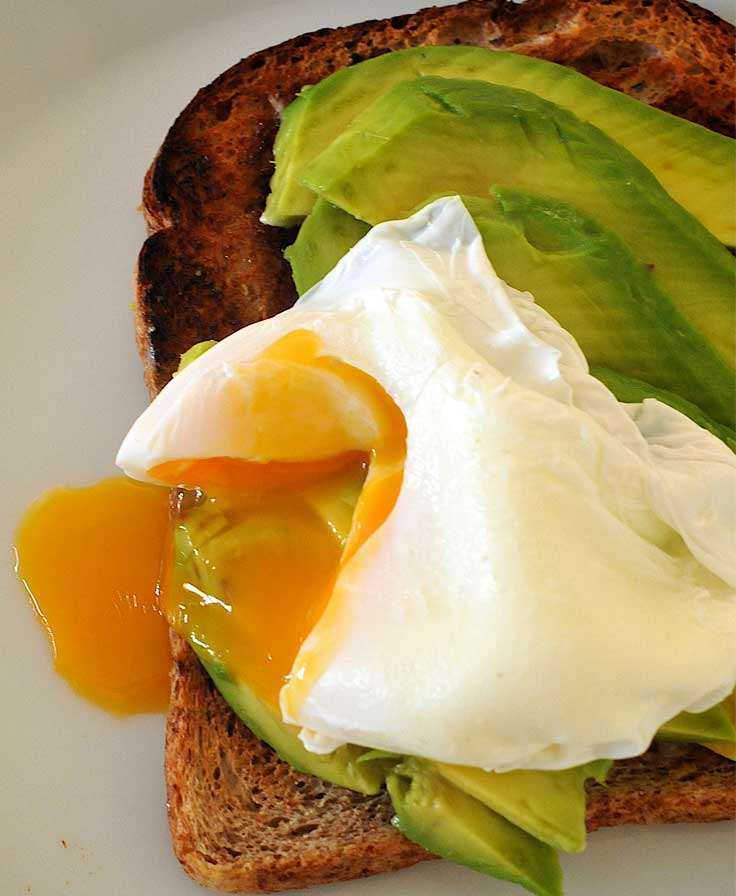 Avocado and poached egg on toast